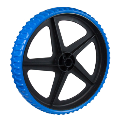 Large puncture proof trolley wheels